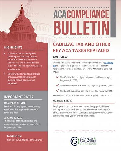 3 ACA Taxes Repealed
