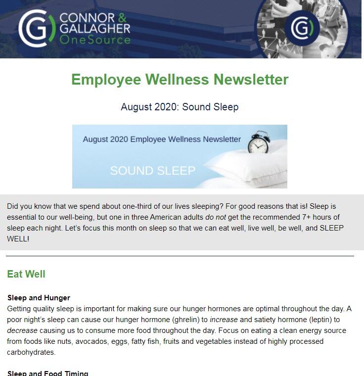 August 2020 Wellness Newsletter