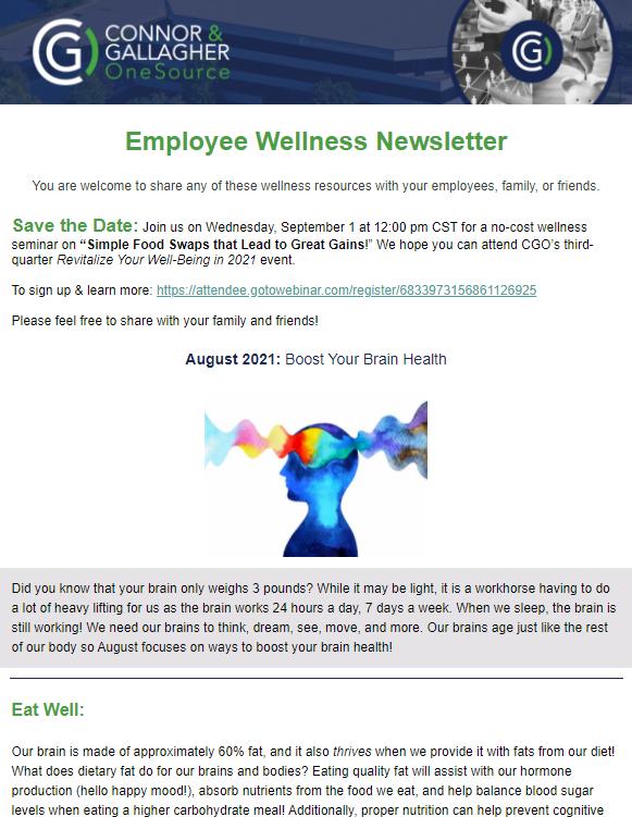 August Wellness Newsletter