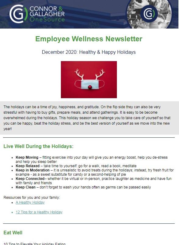 December 2020 Wellness Newsletter